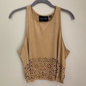 MINKPINK Tan Crop Top